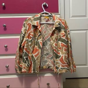 Ruby road 70s style print patterned jacket
